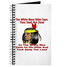 White Bible Say Not Steal Journal