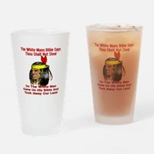 White Bible Say Not Steal Drinking Glass