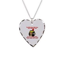 White Bible Say Not Steal Necklace