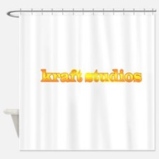 Kraft studios-orange Shower Curtain