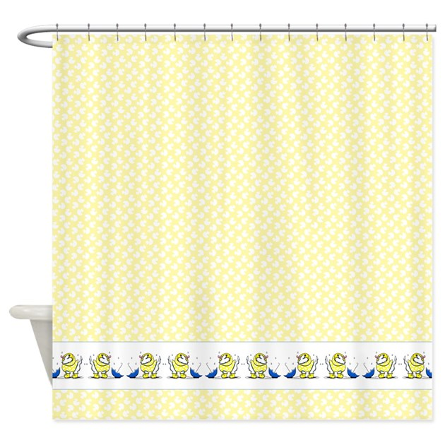 Westies Ducks N Umbrellas Shower Curtain By Ahamiltonart