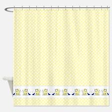 Westies Ducks n Umbrellas Shower Curtain