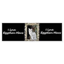 Silver Egyptian Mau Bumper Sticker