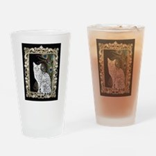 Silver Egyptian Mau Drinking Glass