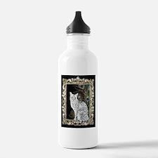 Silver Egyptian Mau Water Bottle