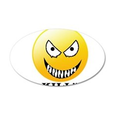 Evil smiley Wall Decal