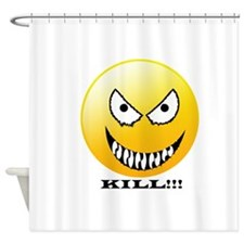Evil smiley Shower Curtain