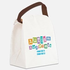 Personalize Autism Awareness Canvas Lunch Bag