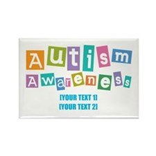 Personalize Autism Awareness Rectangle Magnet