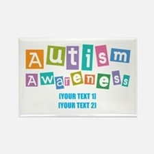 Personalize Autism Awareness Rectangle Magnet