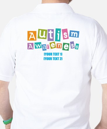 Personalize Autism Awareness Golf Shirt