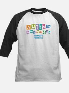 Personalize Autism Awareness Kids Baseball Jersey
