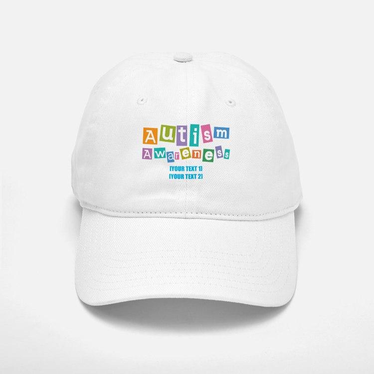 Personalize Autism Awareness Baseball Baseball Cap