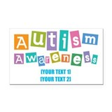 "Proud grandparent of an autistic child 3"" x 5"""