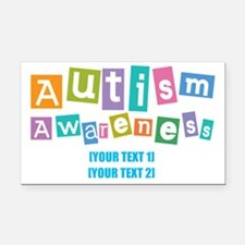 Personalize Autism Awareness Rectangle Car Magnet