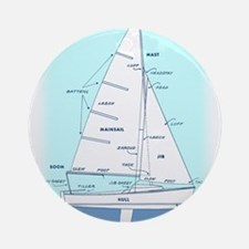 SAILBOAT DIAGRAM (technical design) Ornament (Roun