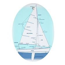 SAILBOAT DIAGRAM (technical design) Ornament (Oval