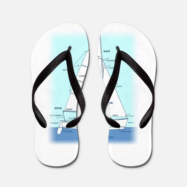 SAILBOAT DIAGRAM (technical design) Flip Flops