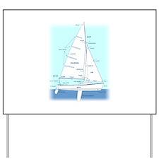 SAILBOAT DIAGRAM (technical design) Yard Sign