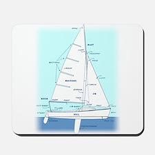 SAILBOAT DIAGRAM (technical design) Mousepad