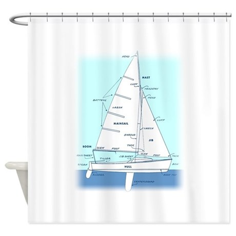 Sailboat Shower Curtain Rings
