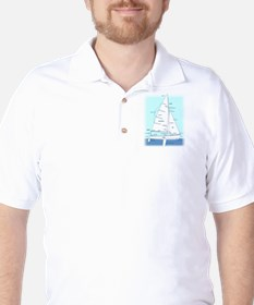 SAILBOAT DIAGRAM (technical design) T-Shirt