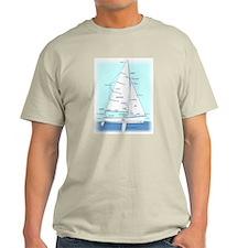 SAILBOAT DIAGRAM (technical design) Light T-Shirt