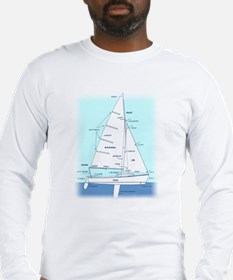 SAILBOAT DIAGRAM (technical design) Long Sleeve T-