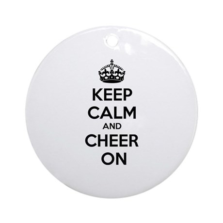 Keep calm and cheer on Ornament (Round)
