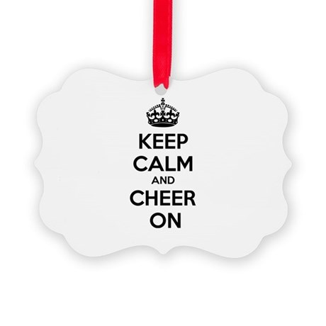 Keep calm and cheer on Picture Ornament