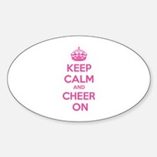 Keep calm and cheer on Sticker (Oval)