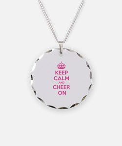 Keep calm and cheer on Necklace Circle Charm