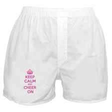 Keep calm and cheer on Boxer Shorts