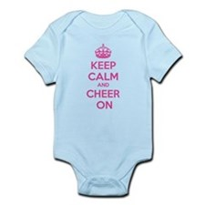 Keep calm and cheer on Infant Bodysuit