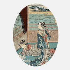 Jakuren Hoshi - Harunobu Suzuki - 1760 Oval Orname