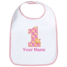 First Birthday Girl Star Bib