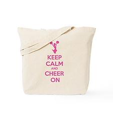 Keep calm and cheer on Tote Bag