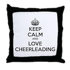 Keep calm and love cheerleading Throw Pillow