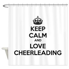 Keep calm and love cheerleading Shower Curtain