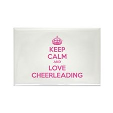 Keep calm and love cheerleading Rectangle Magnet