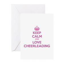 Keep calm and love cheerleading Greeting Cards (Pk