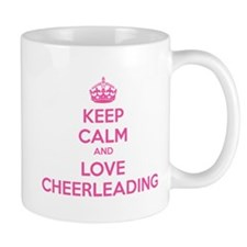 Keep calm and love cheerleading Mug