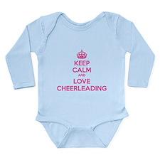 Keep calm and love cheerleading Long Sleeve Infant