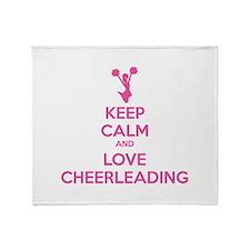 Keep calm and love cheerleading Throw Blanket