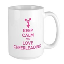 Keep calm and love cheerleading Mug