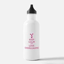 Keep calm and love cheerleading Water Bottle