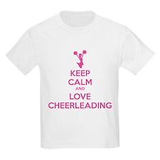 Keep calm and love cheerleading T-Shirt