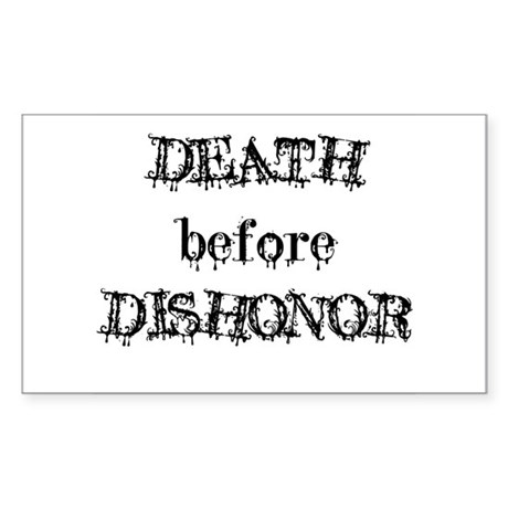 Death before Dishonor Rectangle Sticker