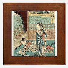 Jakuren Hoshi - Harunobu Suzuki - 1760 Framed Tile