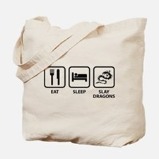 Eat Sleep Slay Dragons Tote Bag